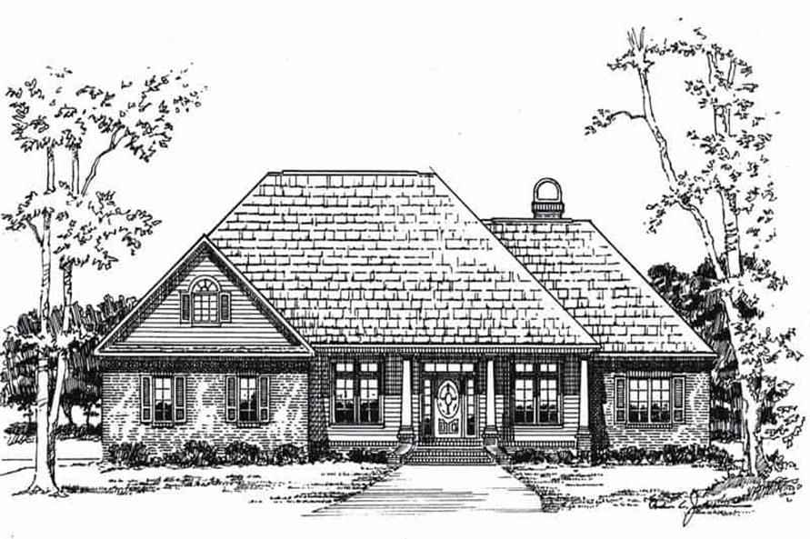 Front View of this 3-Bedroom,2307 Sq Ft Plan -2307