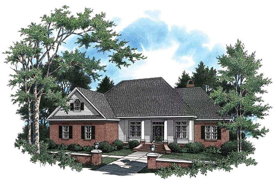 3-Bedroom, 2307 Sq Ft Country Home Plan - 141-1121 - Main Exterior