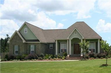 4-Bedroom, 2118 Sq Ft Acadian House Plan - 141-1123 - Front Exterior