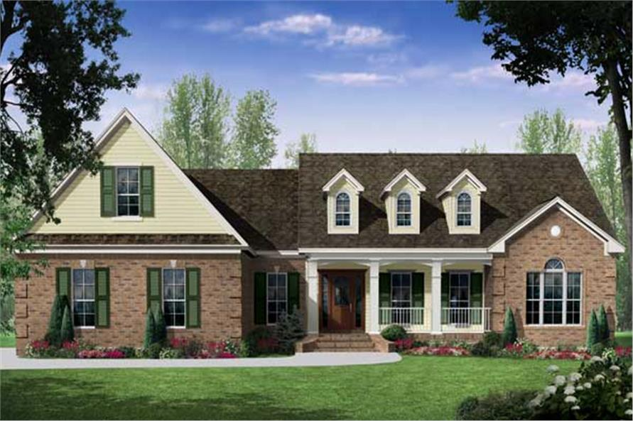 Cape cod house plan 3 bedrms 3 baths 2401 sq ft for Modified cape cod house plans