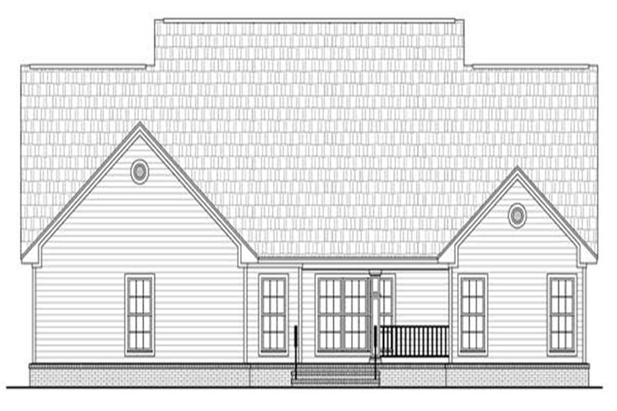 Home Plan Rear Elevation of this 4-Bedroom,2402 Sq Ft Plan -141-1125