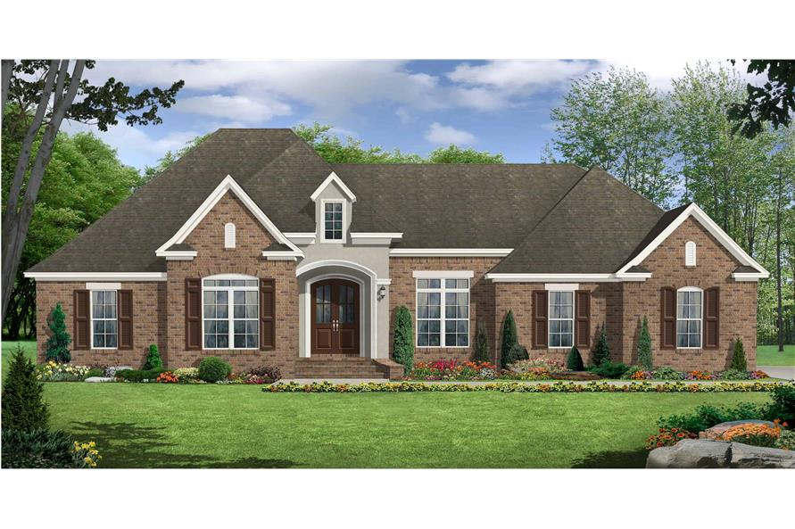 Front View of this 3-Bedroom,2369 Sq Ft Plan -141-1126