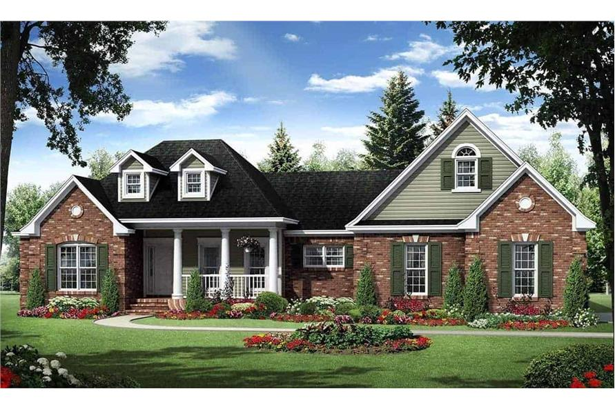 4-Bedroom, 2272 Sq Ft Acadian Home Plan - 141-1127 - Main Exterior