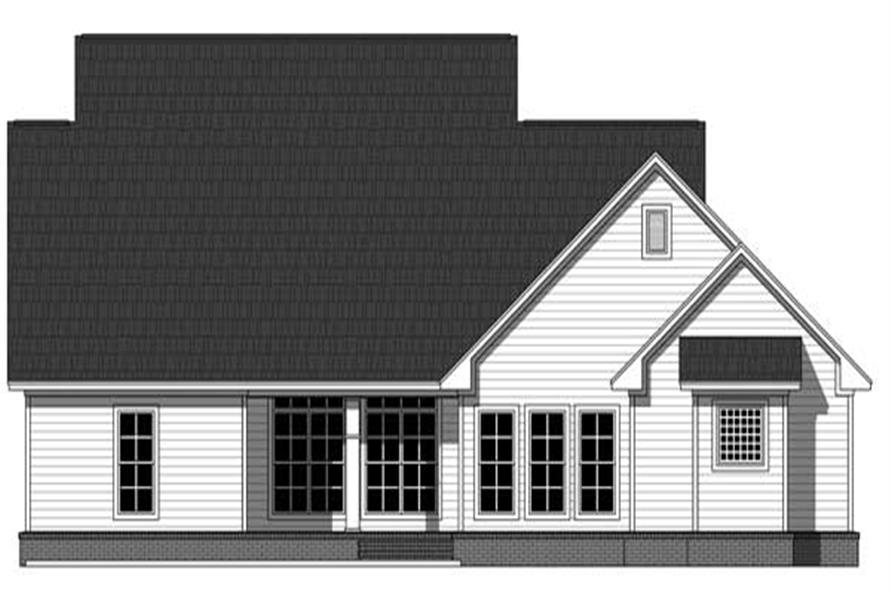 1129 Sq Ft Single Floor Home Part - 50: #141-1129 · Home Plan Rear Elevation