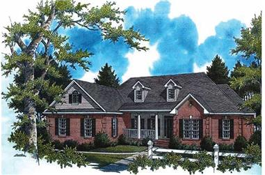 4-Bedroom, 2805 Sq Ft Country House Plan - 141-1130 - Front Exterior