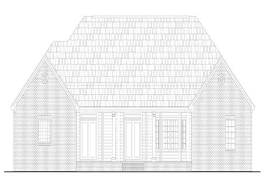 Home Plan Rear Elevation of this 4-Bedroom,2805 Sq Ft Plan -141-1130