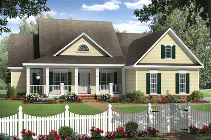 4 Bedrm 2204 Sq Ft Country House Plan 141 1131