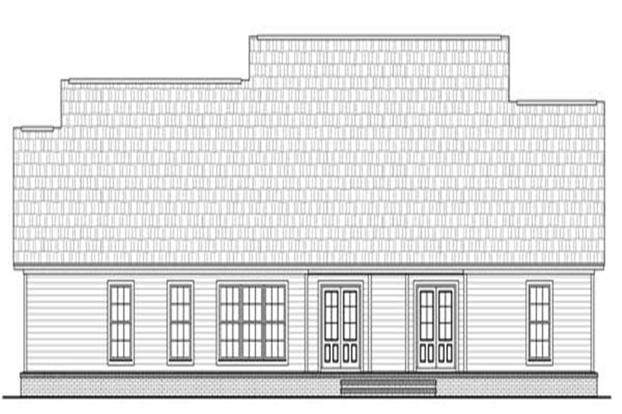 Home Plan Rear Elevation of this 4-Bedroom,2204 Sq Ft Plan -141-1131