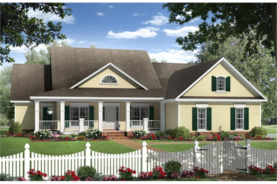 4-Bedroom, 2204 Sq Ft Country Home Plan - 141-1131 - Main Exterior