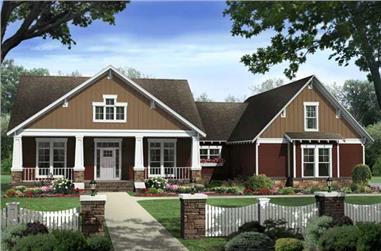 4-Bedroom, 2447 Sq Ft Country House Plan - 141-1132 - Front Exterior