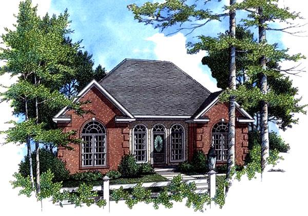141-1133 house plan front elevation