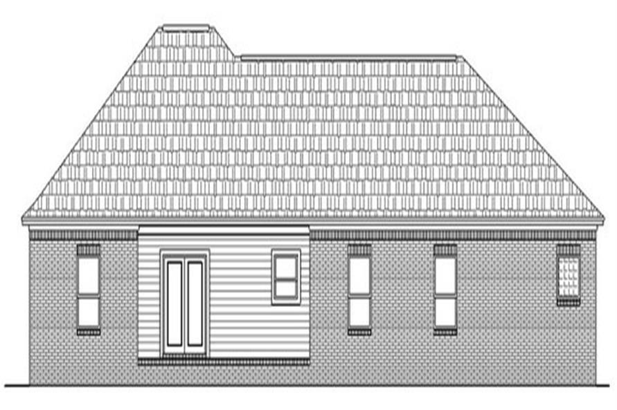 141-1134 house plan rear elevation