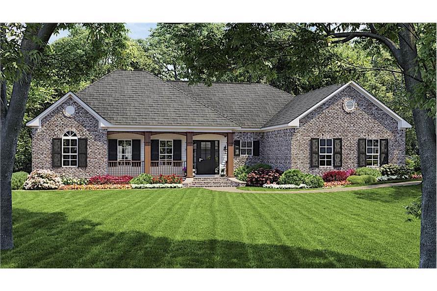 3-Bedroom, 1654 Sq Ft Ranch Home - Plan #141-1134 - Main Exterior