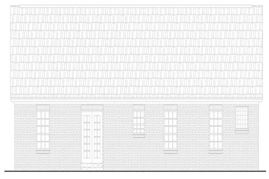 Home Plan Rear Elevation of this 3-Bedroom,1426 Sq Ft Plan -141-1136