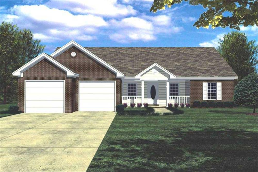 Main image for house plan # 141-1136