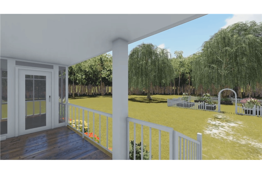 Porch of this 1-Bedroom,600 Sq Ft Plan -600