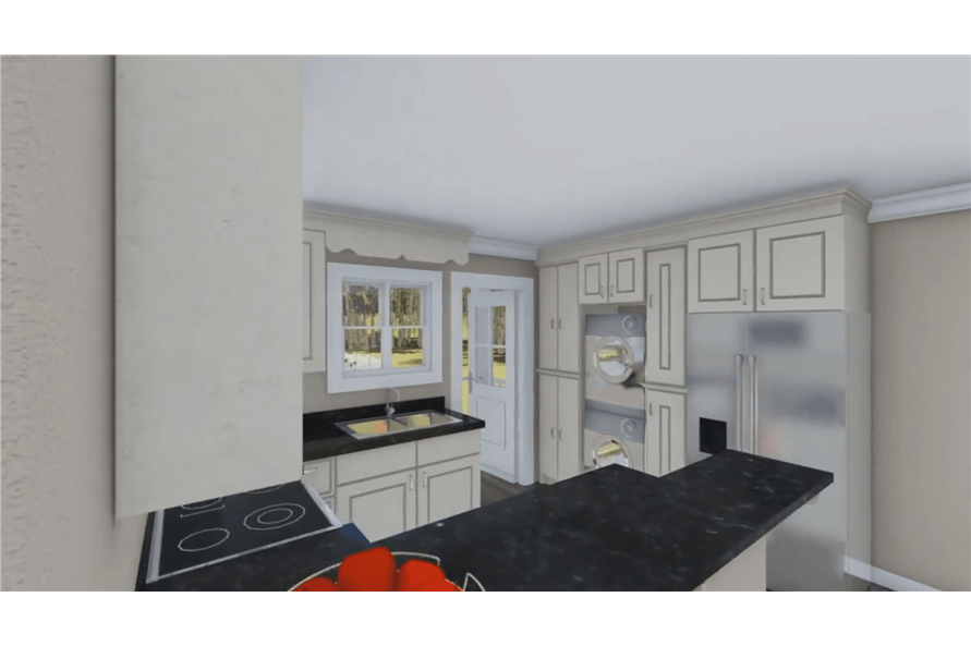 Kitchen of this 1-Bedroom,600 Sq Ft Plan -600