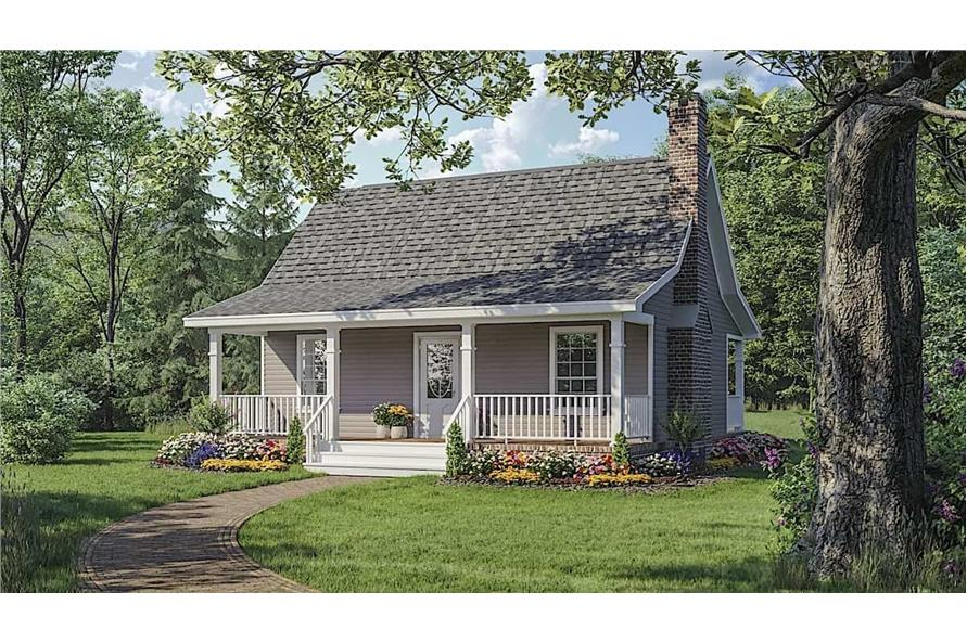 1-Bedroom, 600 Sq Ft Small House - Plan #141-1140 - Front Exterior
