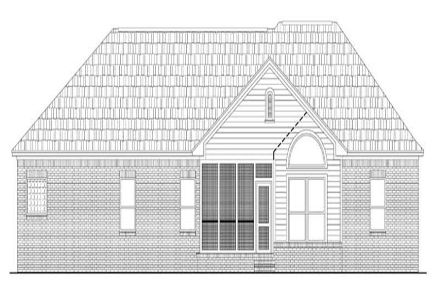 Home Plan Rear Elevation of this 3-Bedroom,2000 Sq Ft Plan -141-1141
