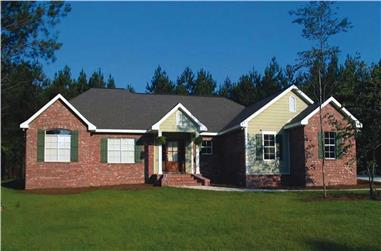 3-Bedroom, 2000 Sq Ft Ranch Home Plan - 141-1141 - Main Exterior