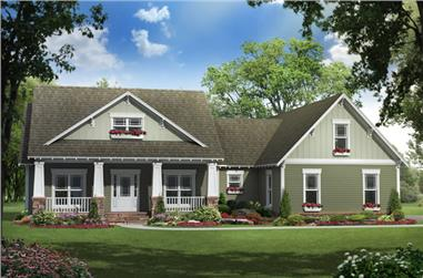 3-Bedroom, 1900 Sq Ft Craftsman House Plan - 141-1144 - Front Exterior