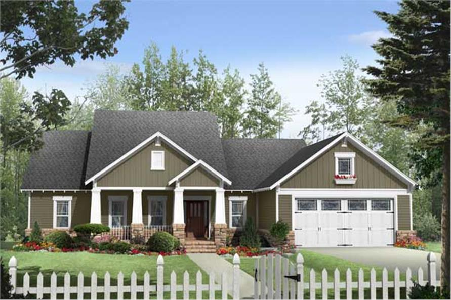 141 1145 this image shows the front elevation of these craftsman house plans