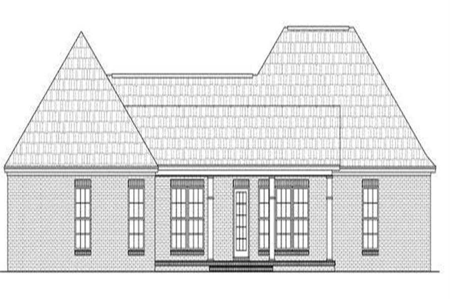Home Plan Rear Elevation of this 3-Bedroom,1919 Sq Ft Plan -141-1146