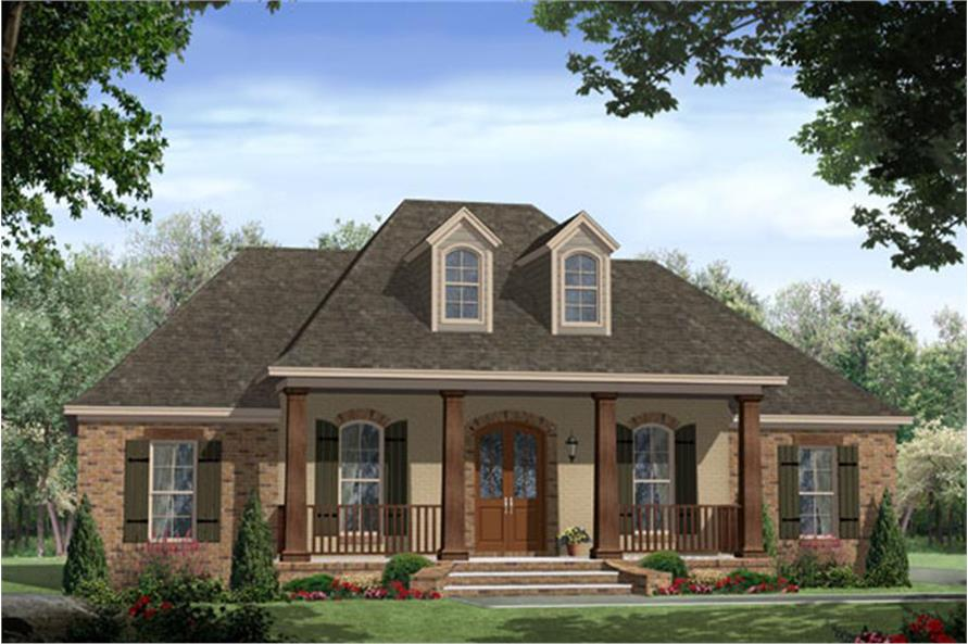 4-Bedroom, 2200 Sq Ft Acadian Home Plan - 141-1148 - Main Exterior