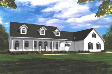 3-Bedroom, 2505 Sq Ft Country Home Plan - 141-1150 - Main Exterior