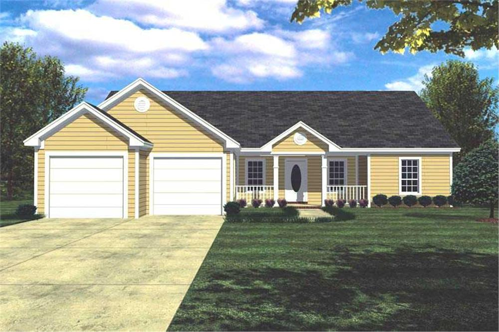 This is a computer rendering of these small house plans # 7823