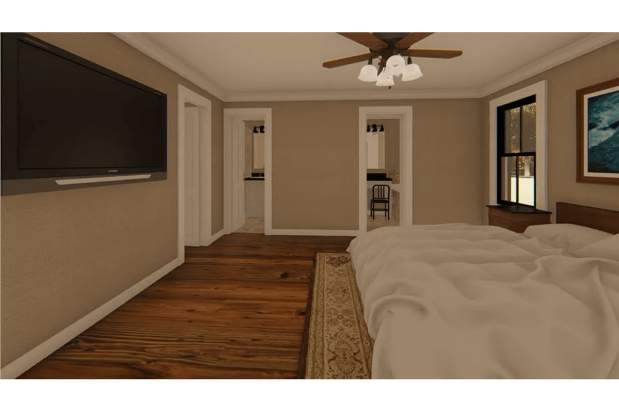 Master Bedroom of this 3-Bedroom,1400 Sq Ft Plan -141-1152