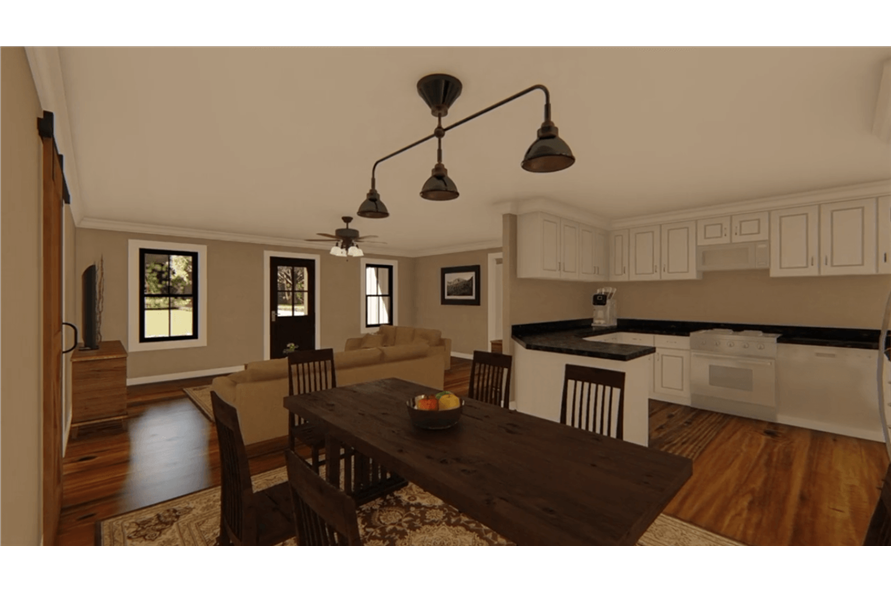 Kitchen of this 3-Bedroom,1400 Sq Ft Plan -141-1152