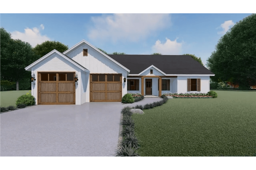 141-1152: Home Plan 3D Image-Front View