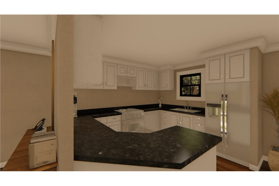 Kitchen of this 3-Bedroom,1400 Sq Ft Plan -1400