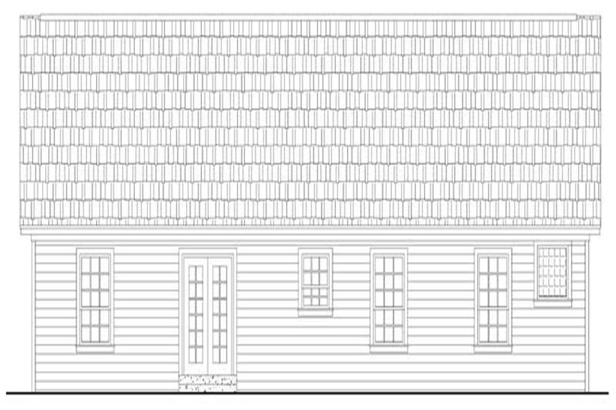 141-1152: Home Plan Rear Elevation