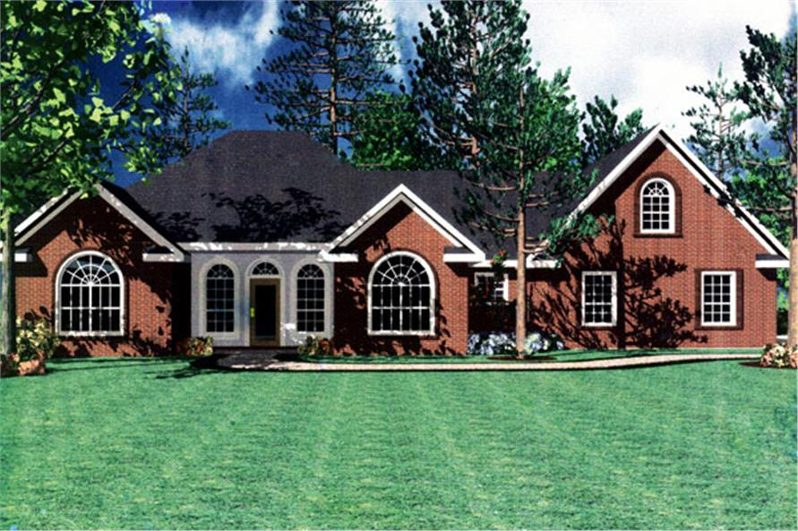 141-1153: Home Plan Front Elevation / Front Rendering