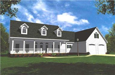 3-Bedroom, 2100 Sq Ft Country Home Plan - 141-1154 - Main Exterior