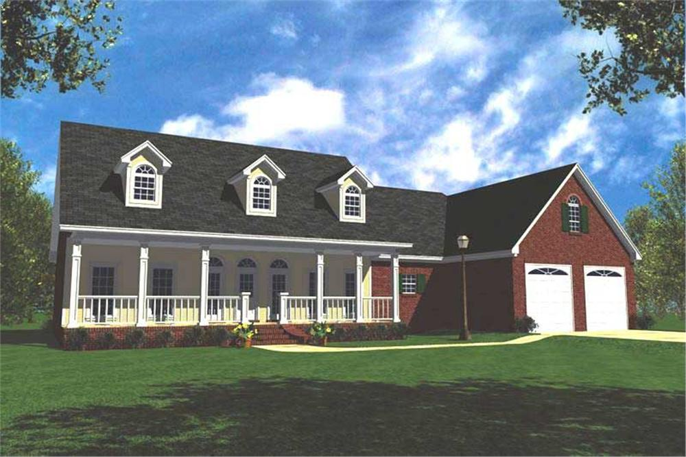 Front elevation of Country home (ThePlanCollection: House Plan #141-1156)