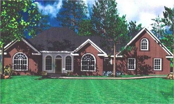 141-1158 house plan front rendering