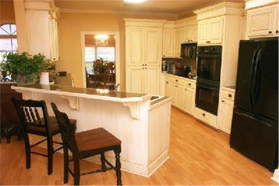 141-1158 house plan kitchen