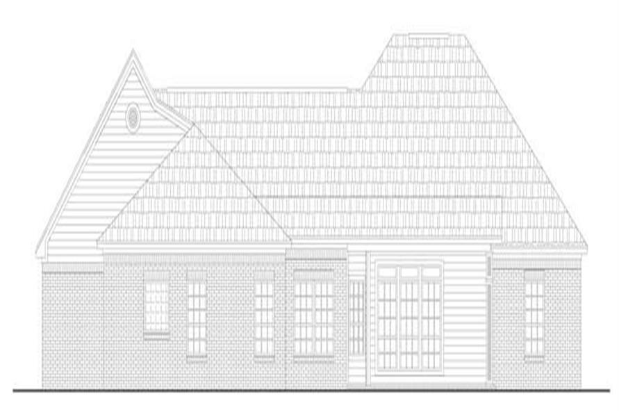 Home Plan Rear Elevation of this 3-Bedroom,2207 Sq Ft Plan -141-1158
