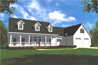 3-Bedroom, 1852 Sq Ft Ranch Home Plan - 141-1161 - Main Exterior