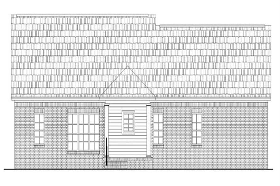 Home Plan Rear Elevation of this 3-Bedroom,1800 Sq Ft Plan -141-1162