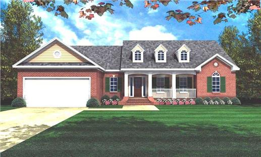 Main image for house plan # 7838
