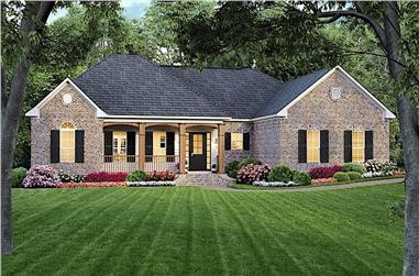 3-Bedroom, 1800 Sq Ft Traditional  House - Plan #141-1163 - Front Exterior