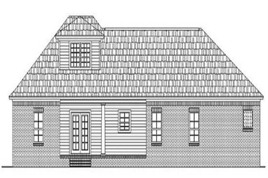 Home Plan Rear Elevation of this 3-Bedroom,1800 Sq Ft Plan -141-1163