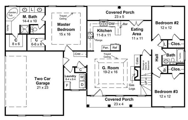 Ranch traditional house plans home design hpg 1800 7837 for 1800 sq ft ranch house plans