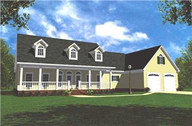 3-Bedroom, 1799 Sq Ft Small House Plans - 141-1164 - Front Exterior