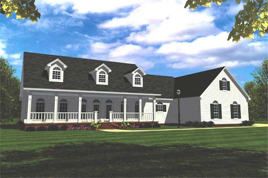 4-Bedroom, 2505 Sq Ft Country Home Plan - 141-1165 - Main Exterior