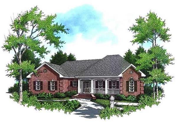 141-1166: Home Plan Rendering-Front Door